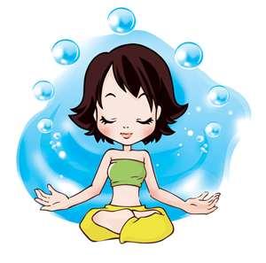 yoga bubbles
