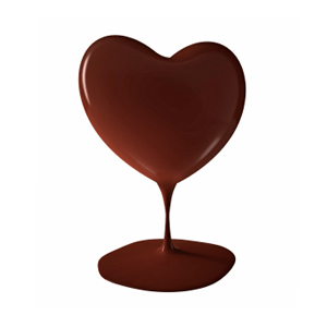 melting choc heart