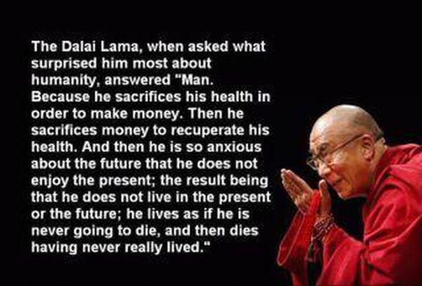 dali lama - what surprises about man